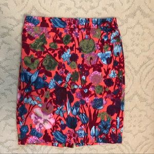 JCrew Womens Floral Pencil Skirt Size 2